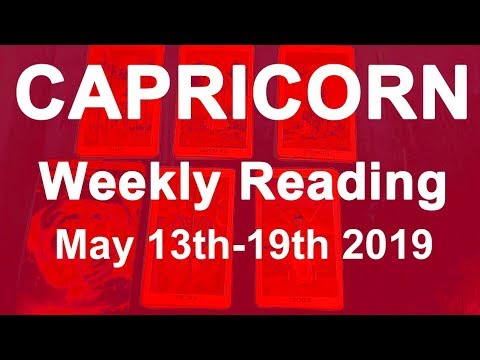 CAPRICORN WEEKLY TAROT READING - THIS COULD BE YOUR SOULMATE - MAY 13TH TO  19TH 2019