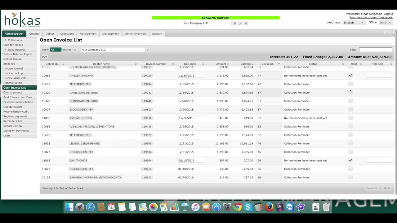 Demo Open Invoice List YouTube - Adp open invoice