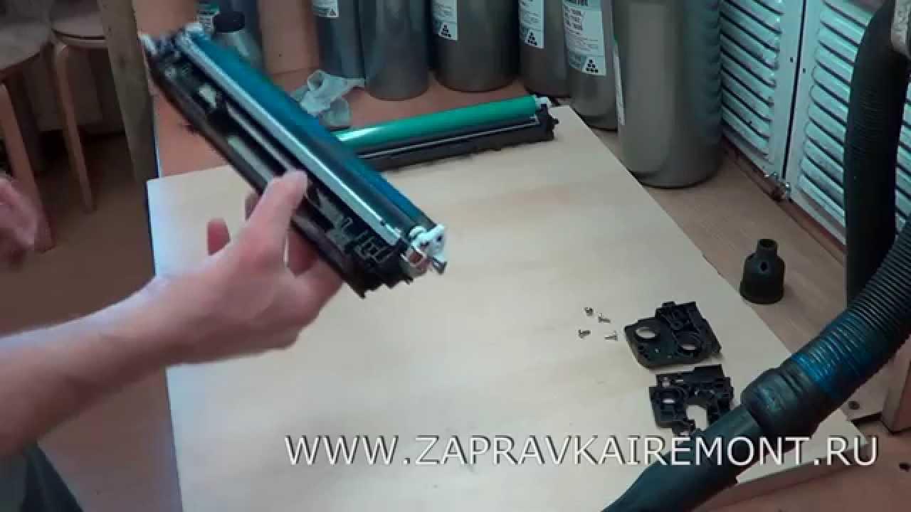 Секрет заправки картриджа HP Q2612A и Canon FX10 - YouTube