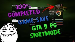 [Pc] ✔️100% Completed Game Save for GTA 5 Storymode (All Unlocked, $2+ Billion & More)