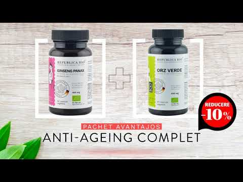 ANTI-AGEING Complet, pachet promotional (Ginseng + Orz verde), BIO, RAW, VEGAN