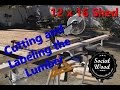 How to Build a Shed - Cutting and labeling the lumber