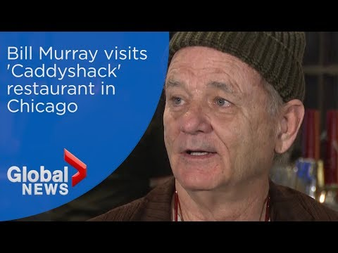 Bill Murray visits his 'Caddyshack' restaurant in Chicago