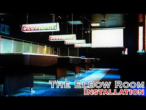 The Elbow Room Macclesfield Installation - 7 New Pool Tables! 2 New Shuffleboards Installed!