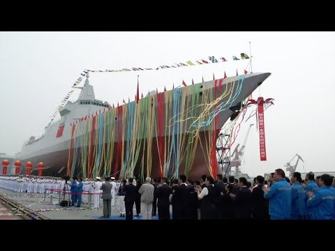 Chinese navy launches new generation destroyer