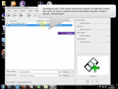 Video Birleştirme  Kesme Altyazı Ekleme  Programı Ve  Nasıl Kullanılır Anlatımı