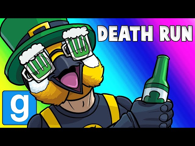 Gmod Death Run Funny Moments - St  Patty's Party at Panda's