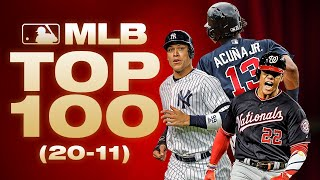 Top 100 Players - No. 20 to 11 | MLB Top 100 Players (Where did Aaron Judge and Juan Soto land?)