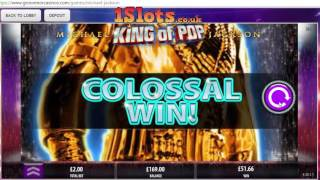 First Look, Michael Jackson King of Pop online slot game, compilation of all features..(I played this new game for a good hour on real play and lost around £30 in the end, it seems to give loads of features and bonuses but i'm yet to have a ..., 2016-06-03T19:49:33.000Z)