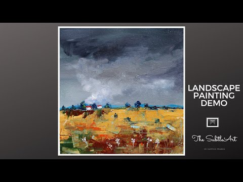 Landscape Painting Demo | Learn Acrylic Painting Techniques | Relaxing ASMR | Art Therapy #12
