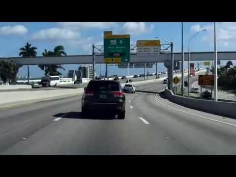 MacArthur Causeway (Interstate 395/FL 836/FL A1A) eastbound