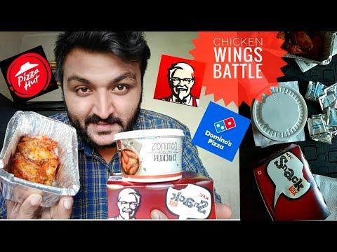 KFC vs DOMINO'S vs Pizza Hut 🔥   Chicken Wings Battle 🍗🔥   Devil Chicken Wings 🍗🔥 thumbnail