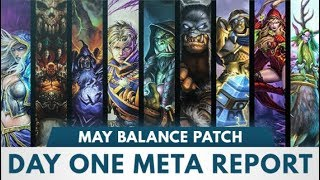 Day One Meta Report | May Balance Patch | [Witchwood]