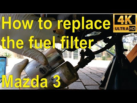 How to replace the fuel / petrol filter on a 2004 Mazda 3 - step by step -  YouTube