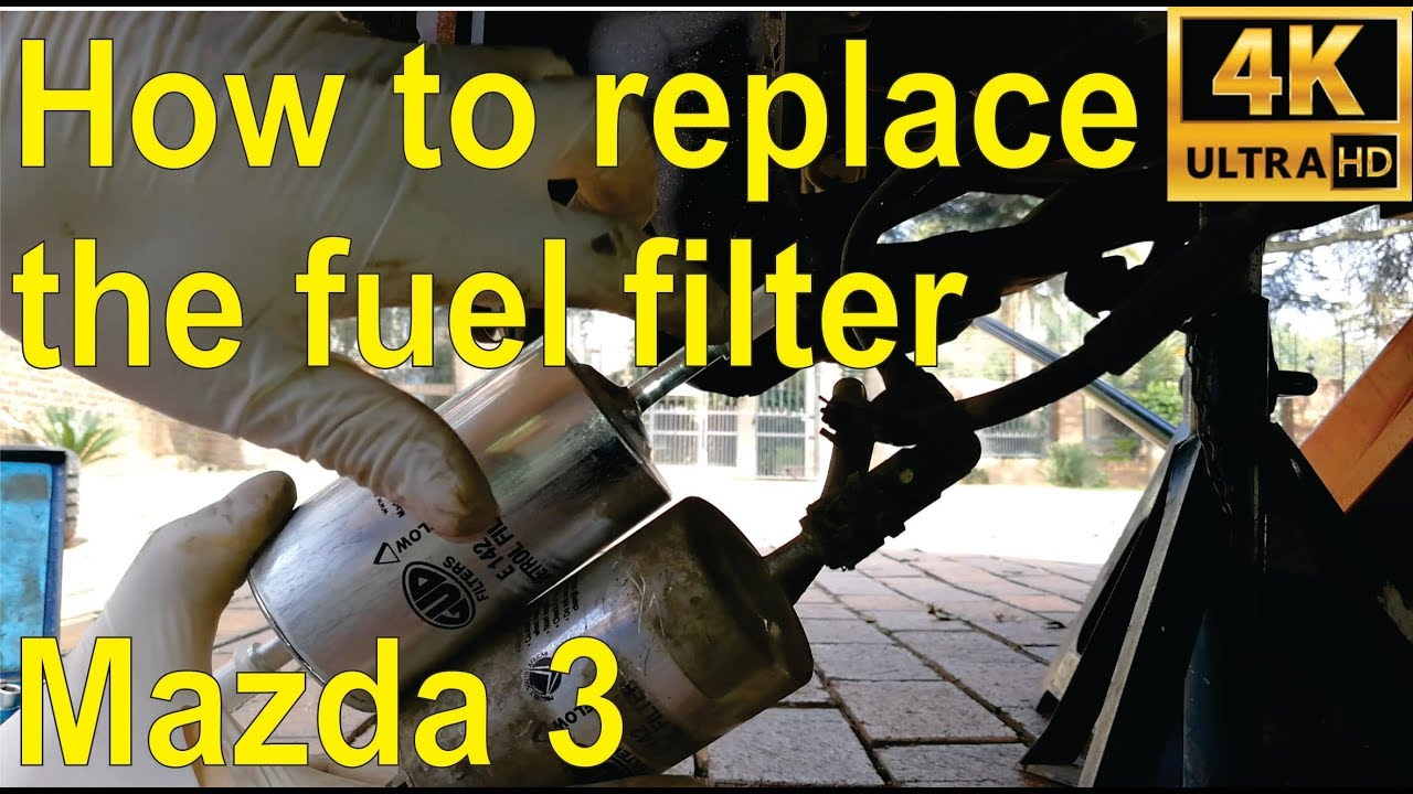 how to replace the fuel petrol filter on a 2004 mazda 3 step by step [ 1280 x 720 Pixel ]