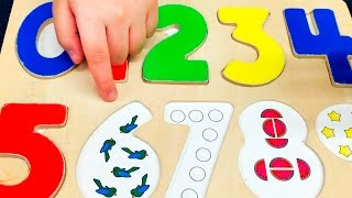 123 count with me. Learn all about numbers with wooden puzzle.