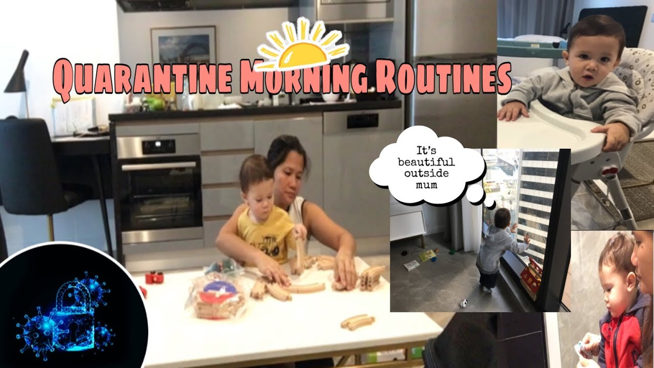 HOTEL QUARANTINE MORNING ROUTINES WITH TODDLER | COVID - 19 | Rebecca's vlog.