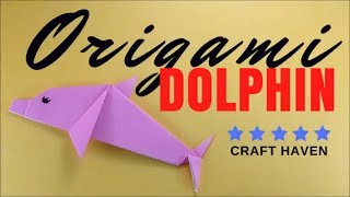 How To Make Easy Origami Dolphin - Step by Step Easy Origami Tutorial for Beginners - Paper Dolphin