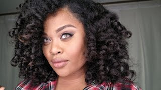 Perm Rod Tutorial On Best Natural Looking WEAVE! Kinky Curly Extensions from HerGivenHair