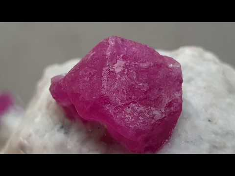 Raw Ruby Stone Mined in Afghanistan Jegdalak Mine 250 g - 36.50 g