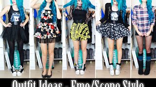 7 Outfit Ideas - Alternative/Scene Style!