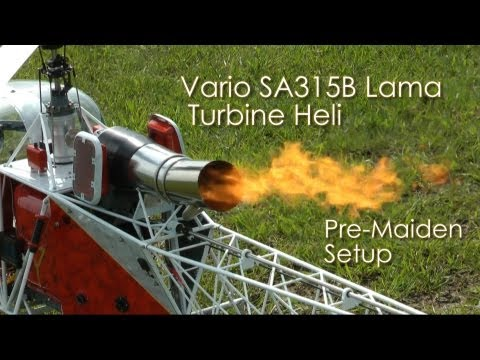 Vario SA 315B Lama Turbine Heli -  Pre-Maiden Setup