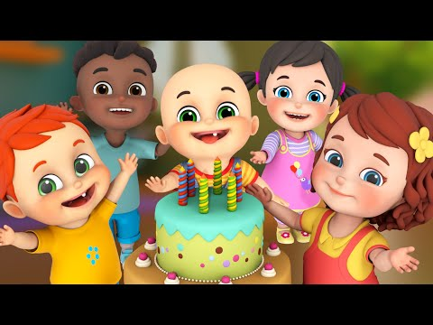 happy birthday song for kids   best nursery rhymes compilation for children by jugnu kids
