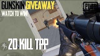 Gunskin Giveaway! & Big TPP Game PUBG MOBILE!