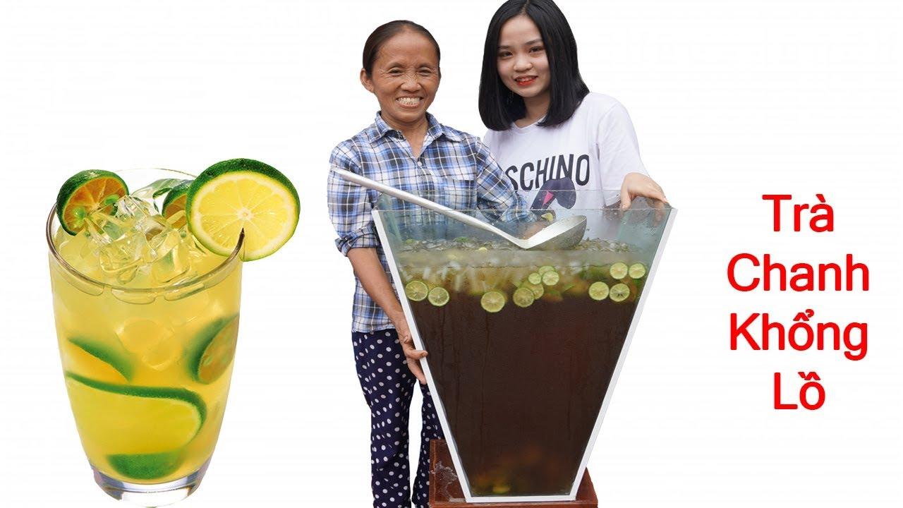 Bà Tân Vlog - Làm Cốc Trà Chanh Siêu To Khổng Lồ 60 Lít | Giant Lemon Tea Cup