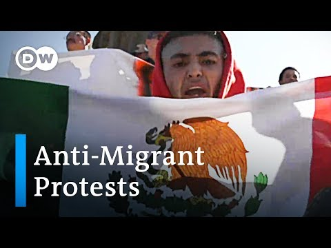 Anti-Immigrant protests spark violence in Tijuana | DW News