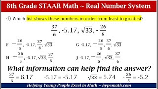 8th Grade Math Review (Compare And Order Real Numbers)
