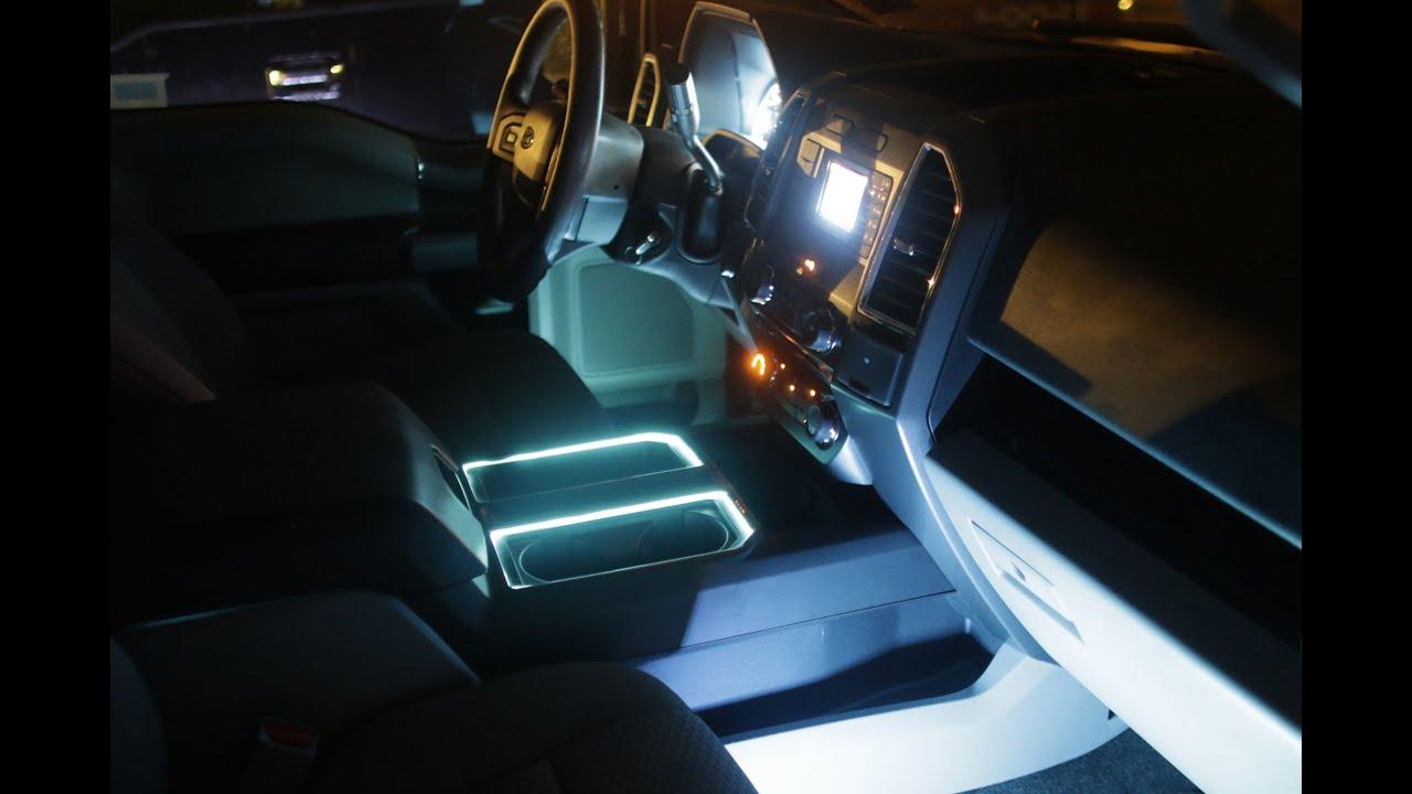 201518 F150 AMBIENT LED LIGHT KIT INSTALL F150LEDSCOM