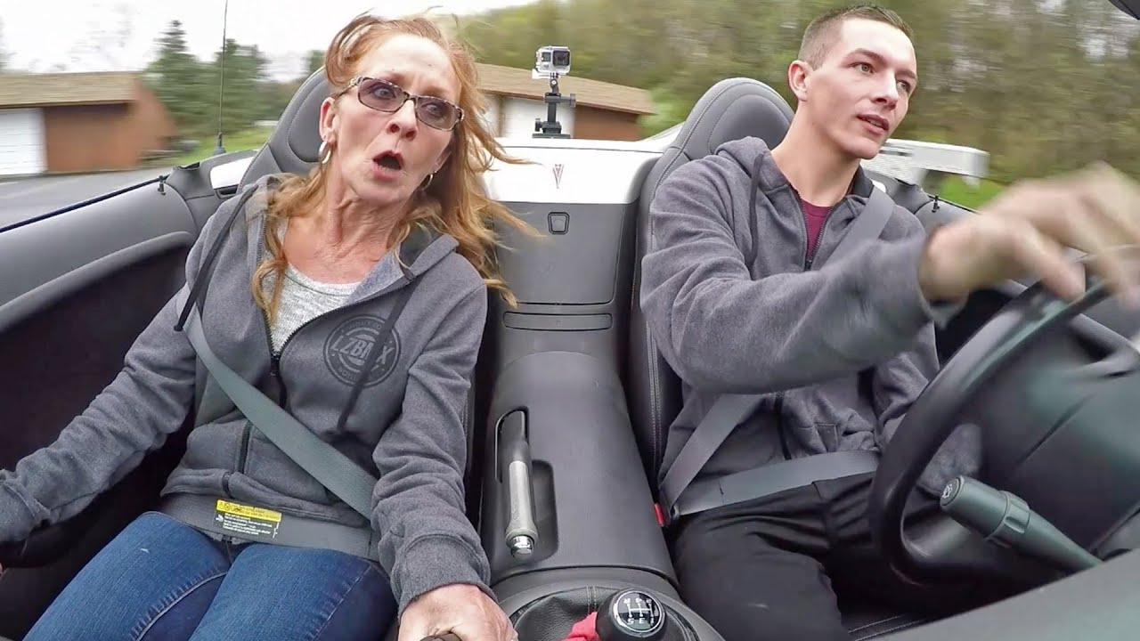 Scaring my Mom in her Own Car!