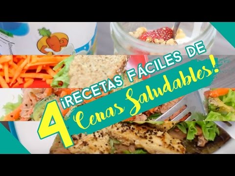 4 recetas f ciles de cenas saludables youtube for Cenas faciles