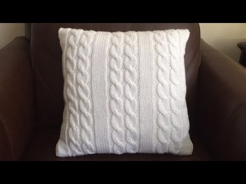 How To Knit A Cable Pillow Lilus Handmade Corner Video 64 Youtube