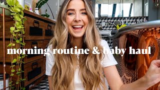 Morning Beauty Routine & Baby Haul | ad