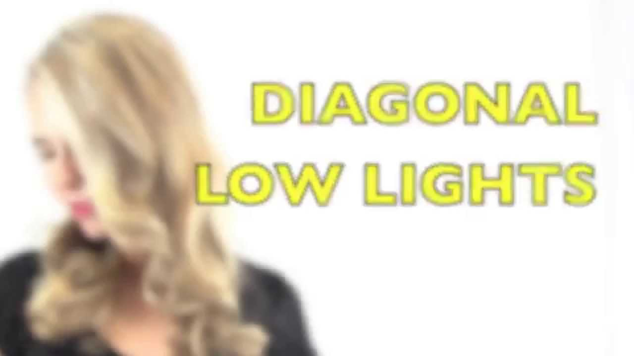 How To Diagonal Hair Low Lights Youtube