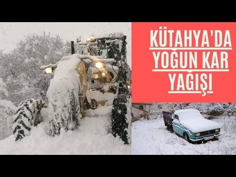 Kütahya da Yoğun Kar Yağışı, Hayatı Felç Etti. Okullar Tatil