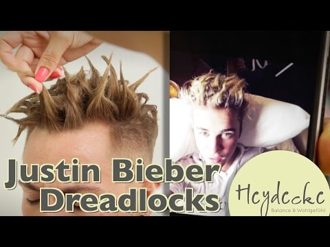Justin Bieber Hairstyling Tutorial - Dreadlocks Styling Step by Step