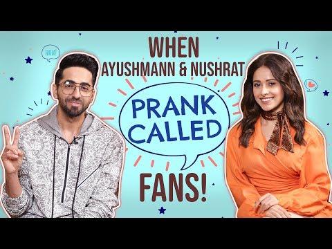 Ayushmann Khurrana and Nushrat Bharucha's HILARIOUS Prank Call to two fans | Dream Girl Mp3