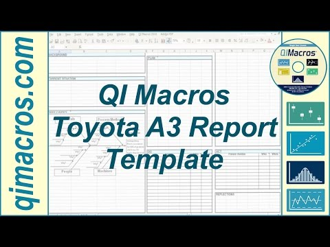 Toyota A3 Report Template in Excel