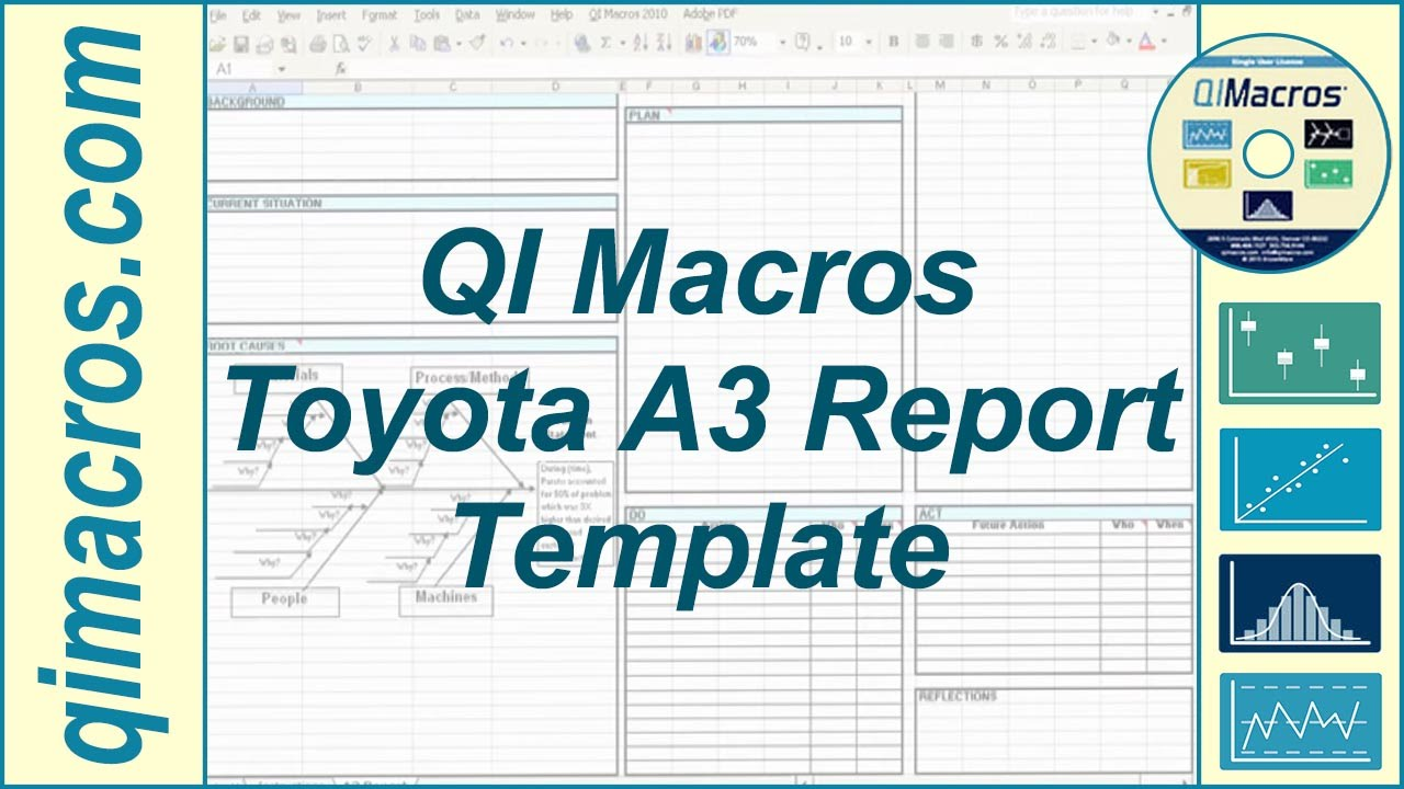 toyota a3 report template in excel youtube. Black Bedroom Furniture Sets. Home Design Ideas