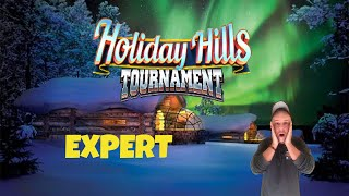 Golf Clash tips, Playthrough, Hole 1-9 - EXPERT *Tournament Wind* - Holiday Hills Tournament!