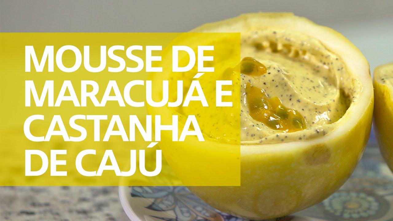 Resultado de imagem para Mousse de maracujá com castanha-de-caju