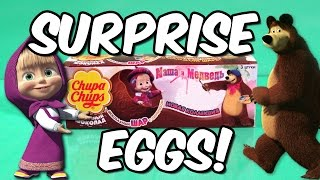 magic hobby show masha and the bear surprise eggs new 2015 amazing toys for kids opening