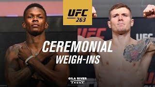 UFC 263: Ceremonial Weigh-in