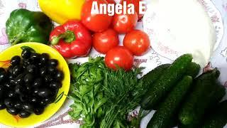 Салат Греческий! Легко и быстро, главное вкусно!