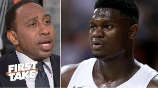Stephen A. doesn't have a problem with Zion's top 50 ranking | First Take