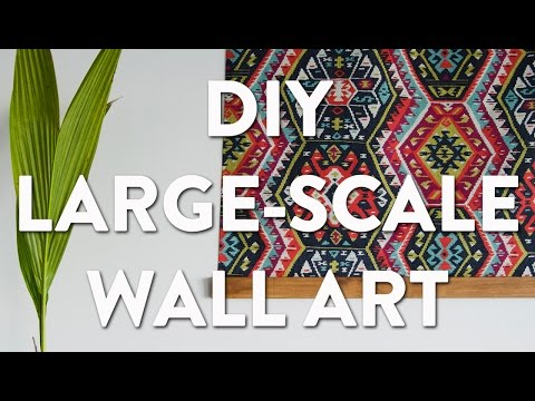 DIY Large-Scale Wall Tapestry