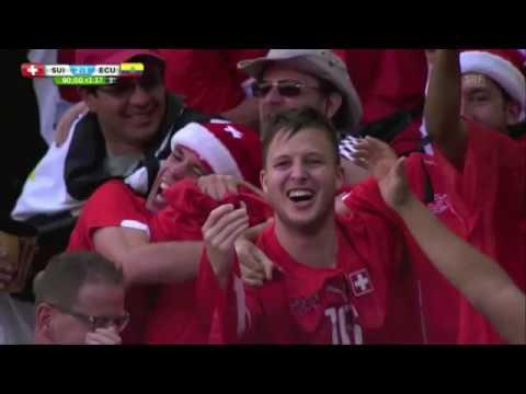 Seferovic amazing last minute goal - the commentator goes crazy!!